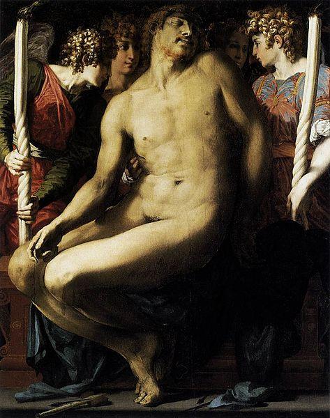 Rosso Fiorentino: Cristo morto compianto da quattro angeli