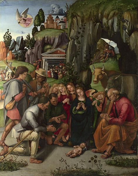 Luca Signorelli: Adorazione dei pastori