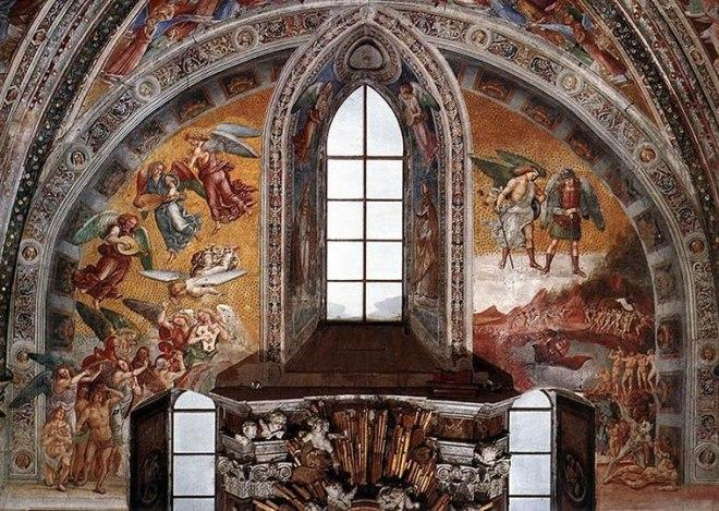 """Luca Signorelli: """"Storie degli ultimi giorni"""" - Salita al Paradiso e chiamata all'Inferno"""