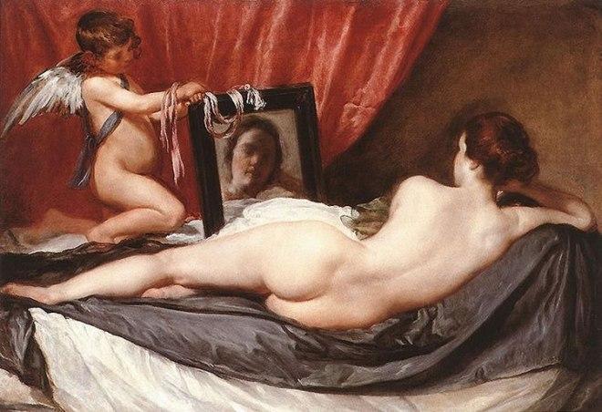 Venere allo specchio, Londra National Gallery (cm: 175)