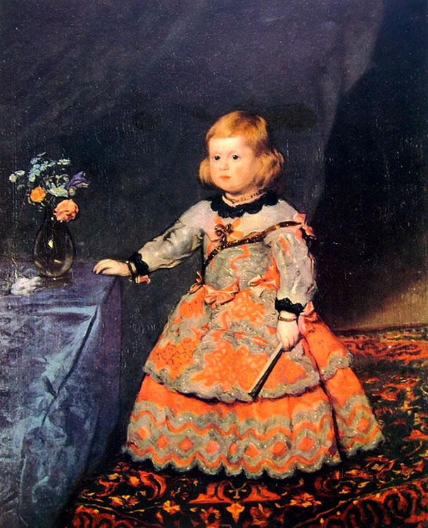 L'infanta Margarita a circa tre anni, Vienna Kunsthistorisches Museum (cm. 99,5)