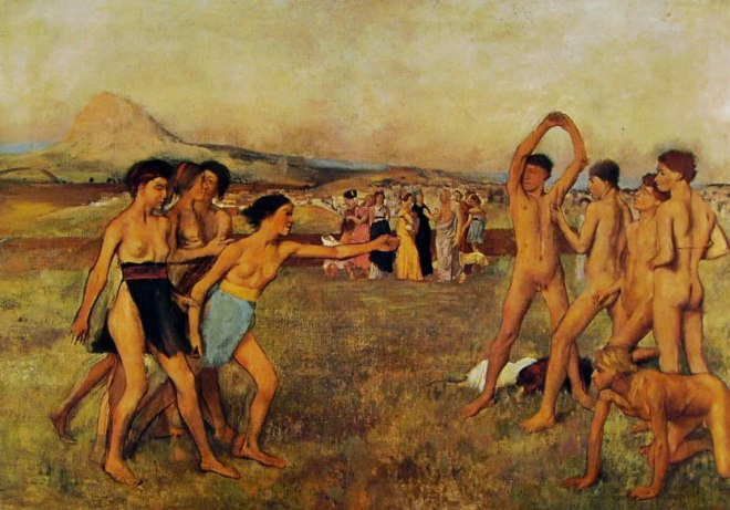 Edgar Degas: Esercizi di giovani spartani