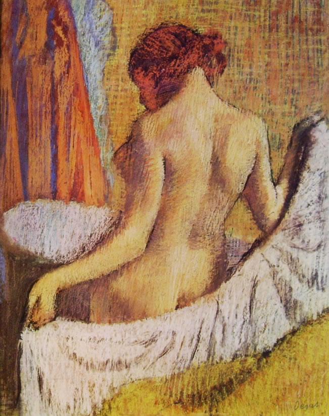 Edgar Degas: Donna che indossa l'accappatoio