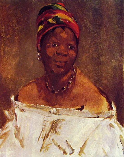 Edouard Manet: La negra, studio per Olympia