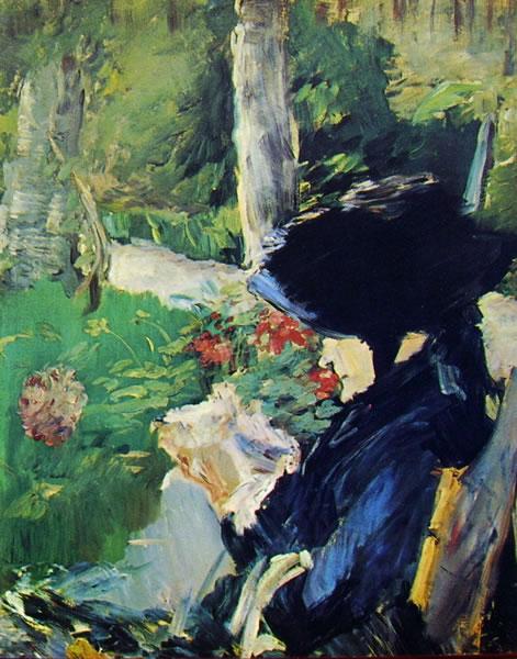 La madre di Manet nel giardino di Bellevue