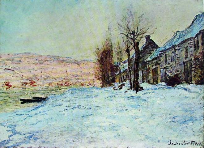 Claude Monet: Presunta Lavacourt d'inverno