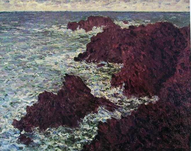 Claude Monet: Scogli a Belle Ile