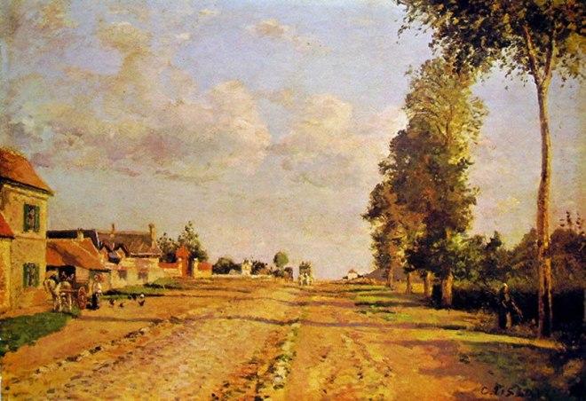 Camille Pissarro: Strada a Rocquencourt