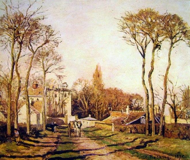 Camille Pissarro: Entrata del villaggio Voisins