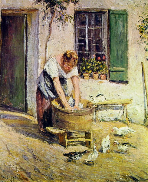 Camille Pissarro: La lavandaia
