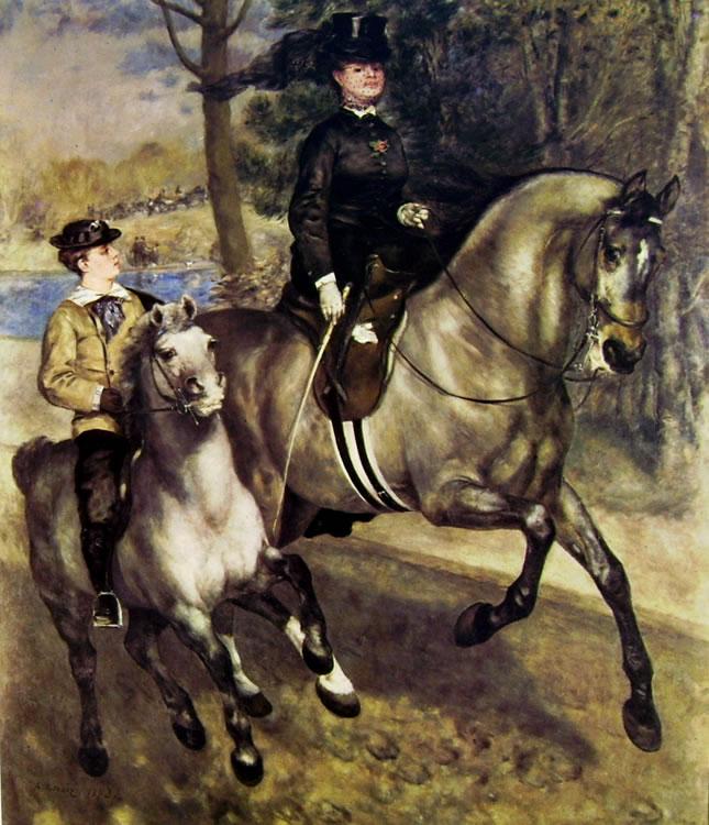 Renoir - Cavalieri al bois de Boulogne