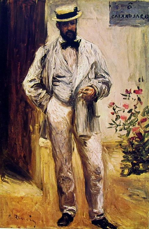 Charles Coeur in giardino, 1874, cm. 42 x 30 Museo d'Orsay, Parigi