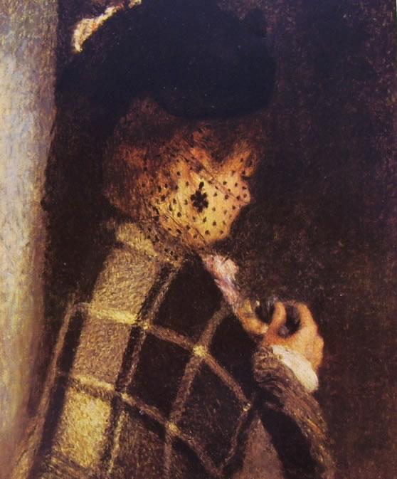 Renoir - Giovane donna con veletta