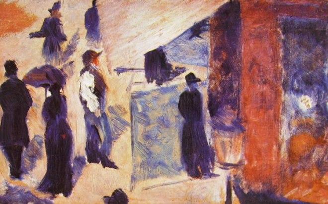 Georges-Pierre Seurat: Figure in una strada