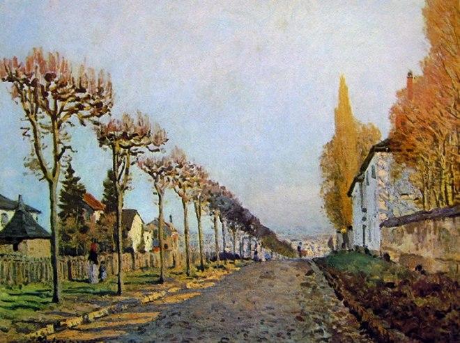 Alfred Sisley: Louveciennes (la strada di Sèvres)