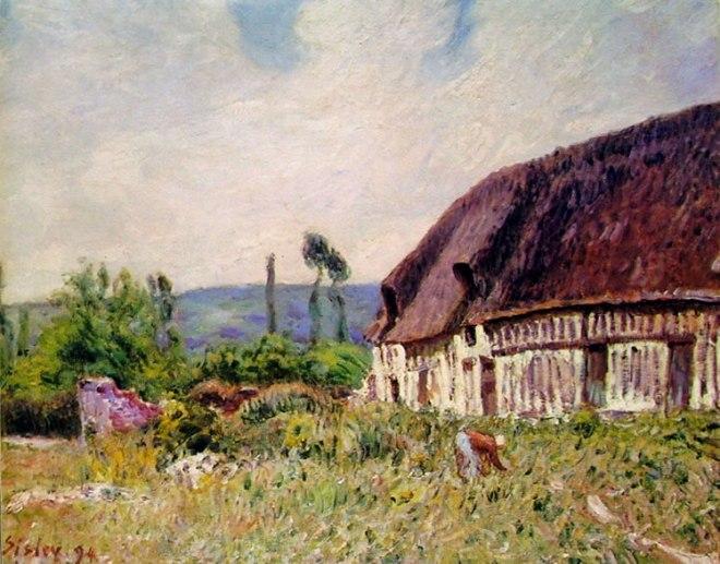 Alfred Sisley: La capanna in Normandia