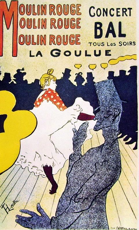 Toulouse-Lautrec: Molin Rouge - la Goulue
