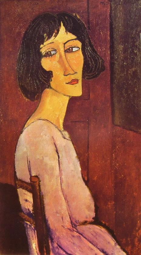 Amedeo Modigliani: Margherita seduta, in fianco