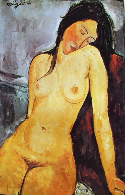 Amedeo Modigliani: Nudo seduto