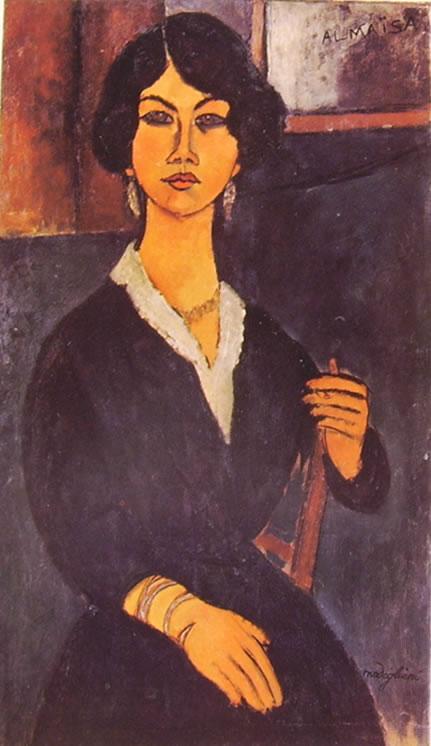 Amedeo Modigliani: L'algerina Almaisa seduta