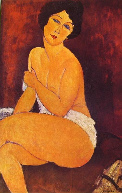 Amedeo Modigliani: Nudo seduto su un divano