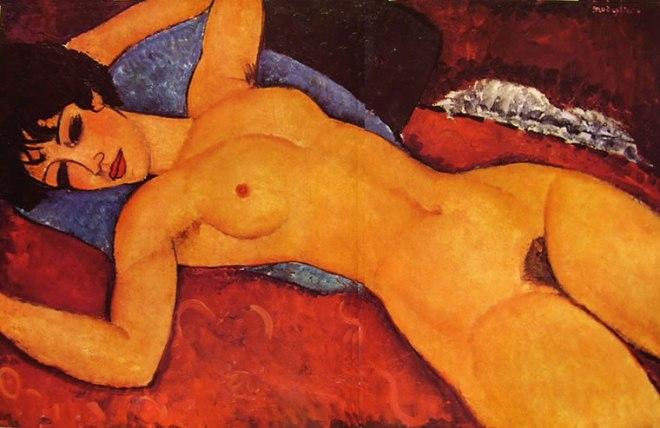 Amedeo Modigliani: Nudo sdraiato a braccia aperte