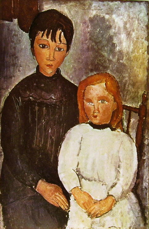 Amedeo Modigliani: Due bambine