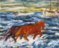 Cavalli sulla spiaggia