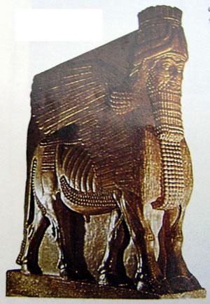 Toro androcefalo, Museo del Louvre, Parigi