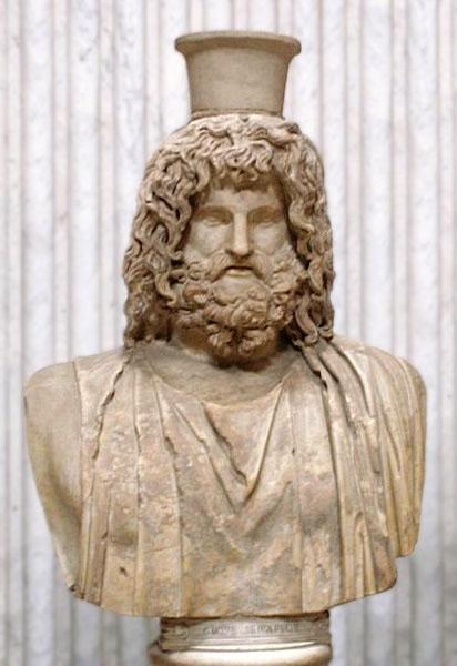 Busto di Serapide Museo Pio-Clementino, Sala Rotunda