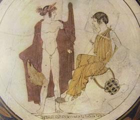 Coppa attica: Apollo ed una Musa (Boston)