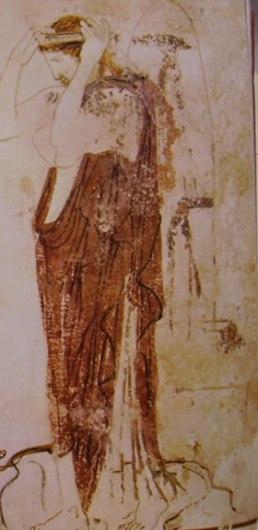 Pittore della Fiala: Ekythos a sfondo bianco: Particolare della morta