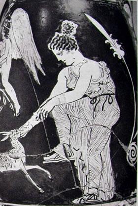 laboratorio del Pittore di Midia: la toilette campestre di Afrodite (Staat Museen, Berlino)