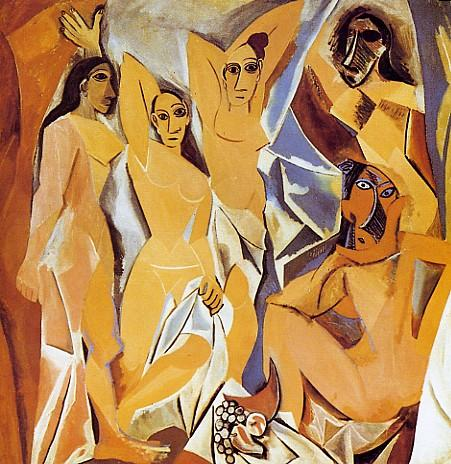 Les Demoiselles d'Avignon picasso sensualità