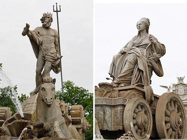 Le due divinità oggetto di culto. www.20minutos.es