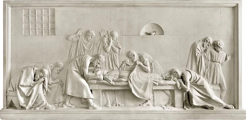 Antonio Canova, Critone chiude gli occhi a Socrate