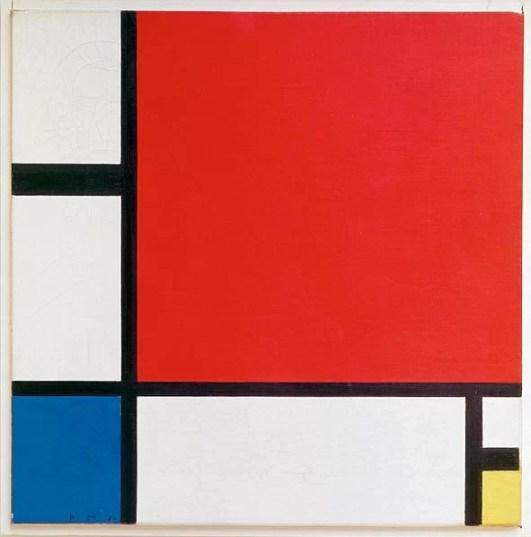 Composizione II in rosso blu e giallo