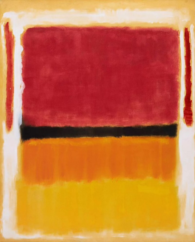Untitled (Violet, Black, Orange, Yellow on White and Red) di Mark Rothko
