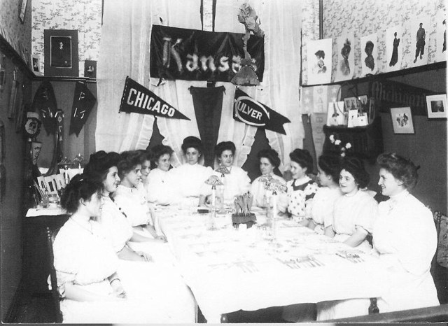 Knox College Co-eds in 1908 at Whiting Hall