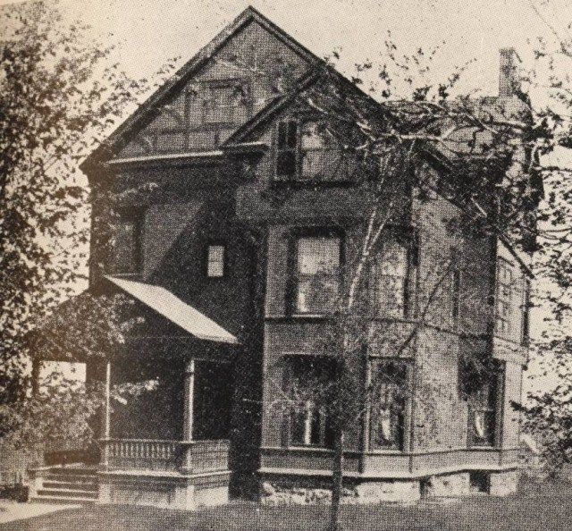 The Alpha Phi chapter house on University Avenue in Syracuse. It was the first house built and owned by a women's fraternity. The house was sold in 1902 and the chapter moved to its current home on Walnut Place.