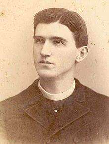 Bishop Edward Kelly as a young priest. He was in his 50s when he helped found Theta Phi Alpha.