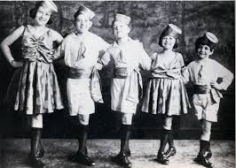 The Five Dancing Kellys - Joan, James, Gene, Louise, and Fred.