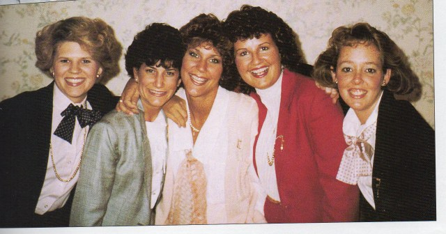 Alpha Xi Delta Consultants, 1985. Second from left is Ginny Carroll, Circle of Sisterhood founder.