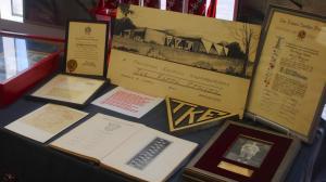 A display from the Tau Kappa Epsilon Heritage Center