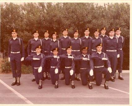 USC AFROTC Drill Team Early 1970s. There are two women in this photo. Cele