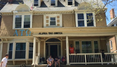 The Alpha Tau Omega house at Syracuse University. Photo by