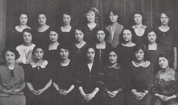Getrude Friedlander and her Alpha Epsilon Phi sisters at the University of Pittsburgh