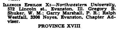 December 1953 officer listing