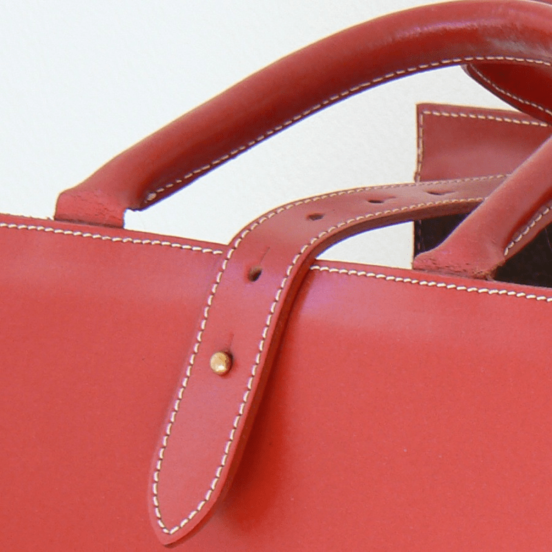 Porte Revues Cuir Rouge Fabrication Artisanale MIDIPY