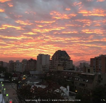 Le soleil se couche à Santiago!